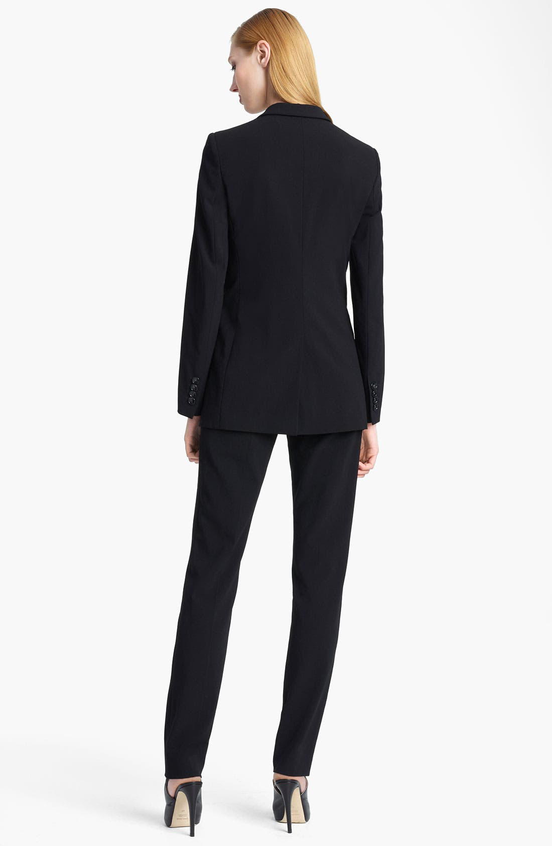 Alternate Image 2  - Armani Collezioni Single Button Crepe Jacket
