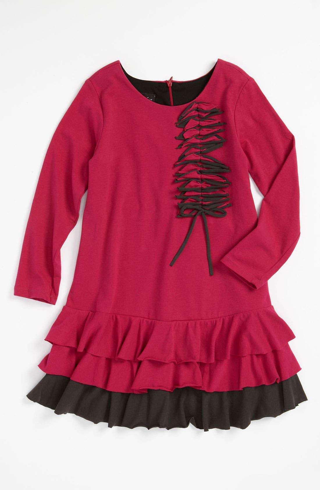 Alternate Image 1 Selected - Isobella & Chloe 'Fireworks' Knit Dress (Little Girls & Big Girls)