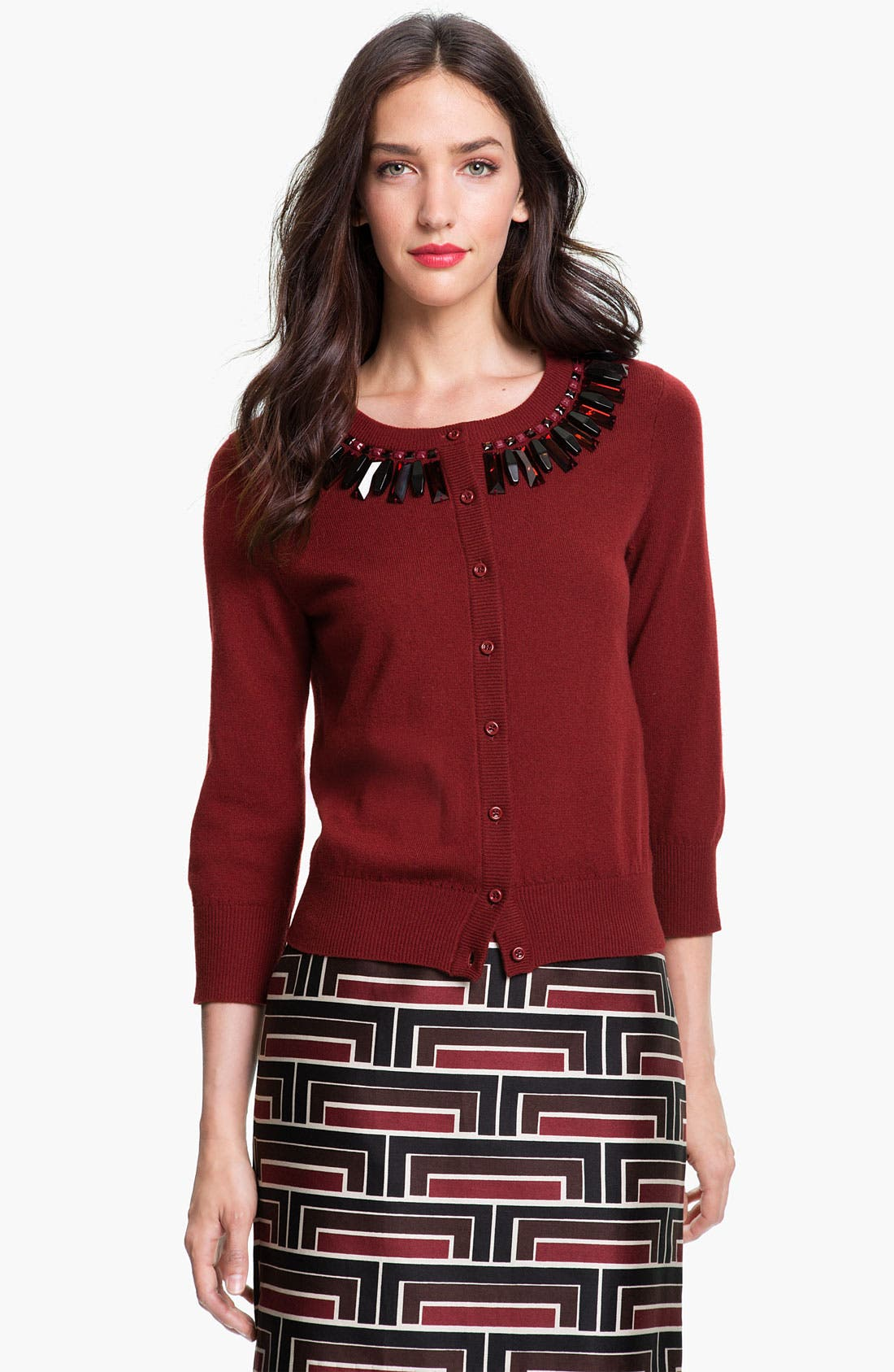 Main Image - kate spade new york 'kati' embellished cardigan