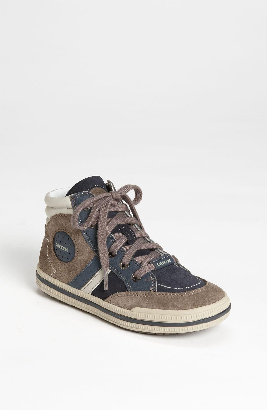 Alternate Image 1 Selected - Geox High Top Sneaker (Toddler, Little Kid & Big Kid)