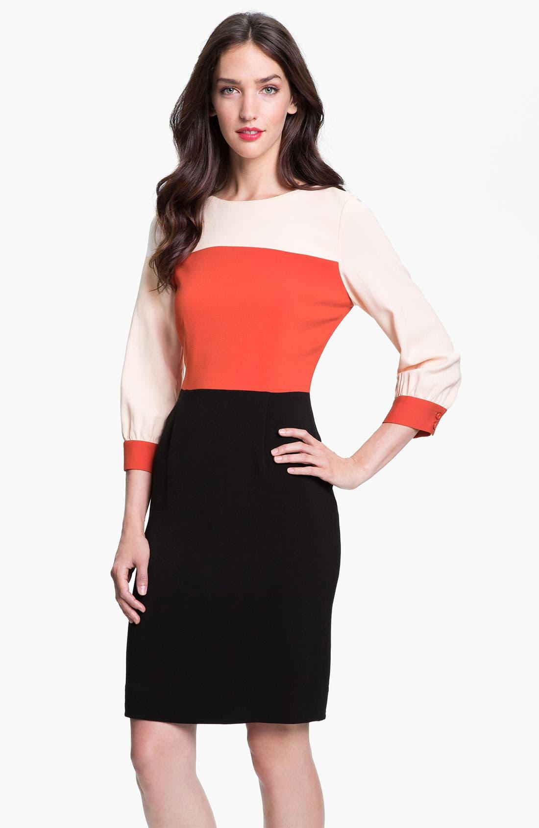 Alternate Image 1 Selected - kate spade new york 'parker' colorblock sheath dress