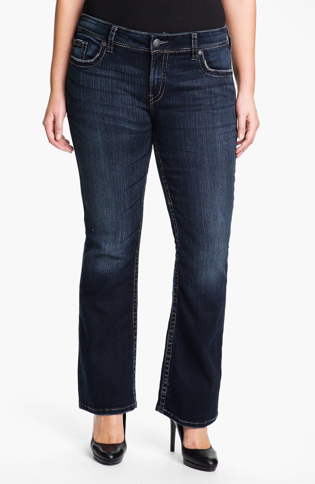 Alternate Image 1 Selected - Silver Jeans Co. 'Suki' Surplus Bootcut Jeans (Juniors Plus)