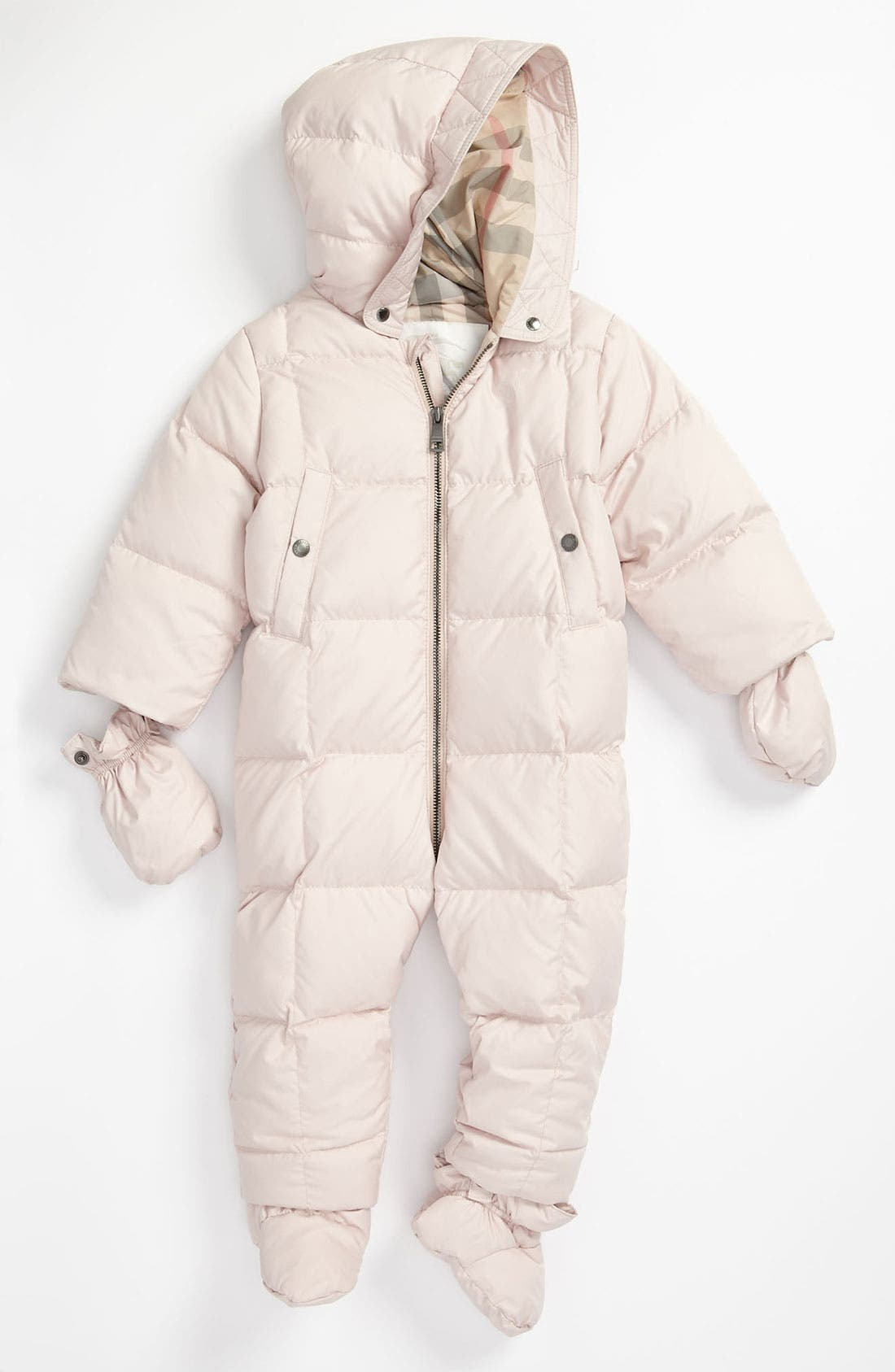 Main Image - Burberry 'Natural White' Quilted Bunting (Infant)