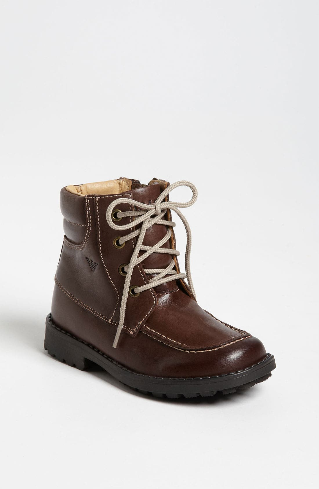 Alternate Image 1 Selected - Armani Junior Leather Boot (Walker & Toddler)