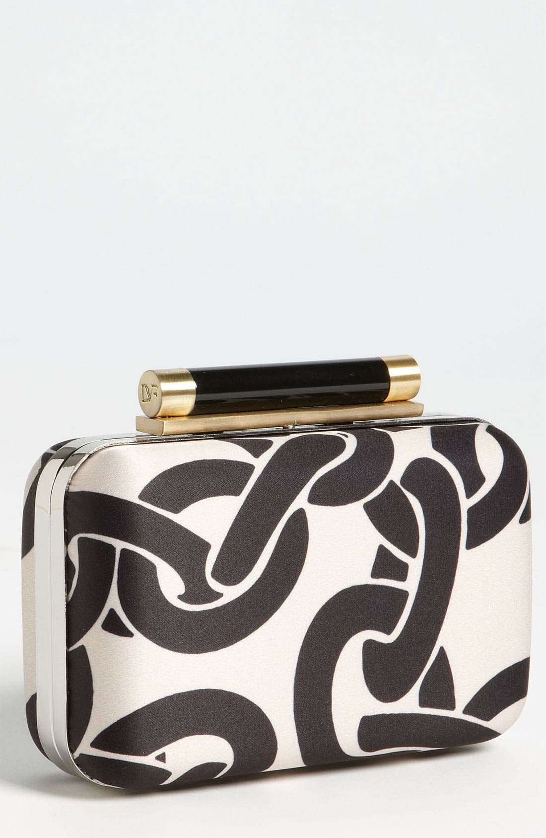 Alternate Image 1 Selected - Diane von Furstenberg 'Tonda' Satin Clutch