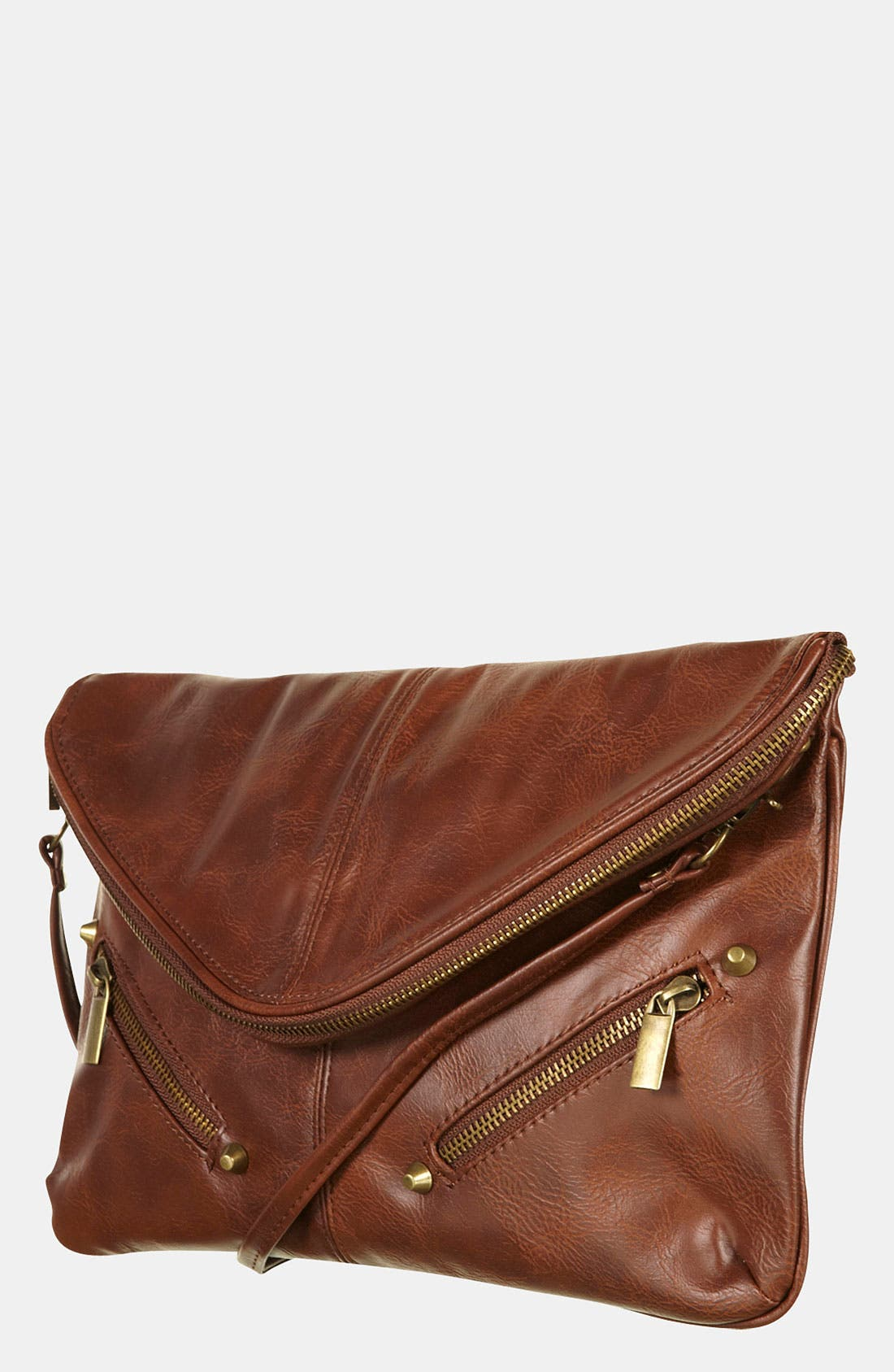 Main Image - Topshop Zip Envelope Convertible Clutch