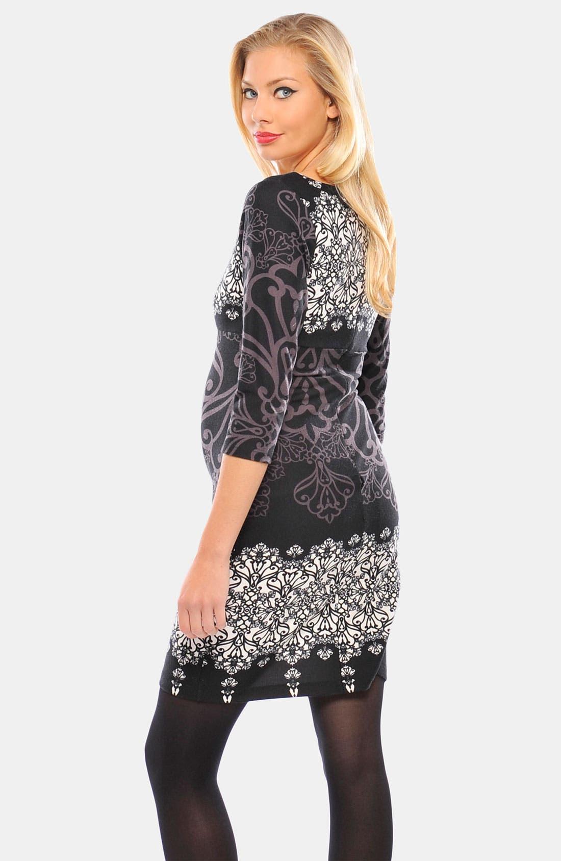 Alternate Image 2  - Olian 'Suzie' Ponte Maternity Dress