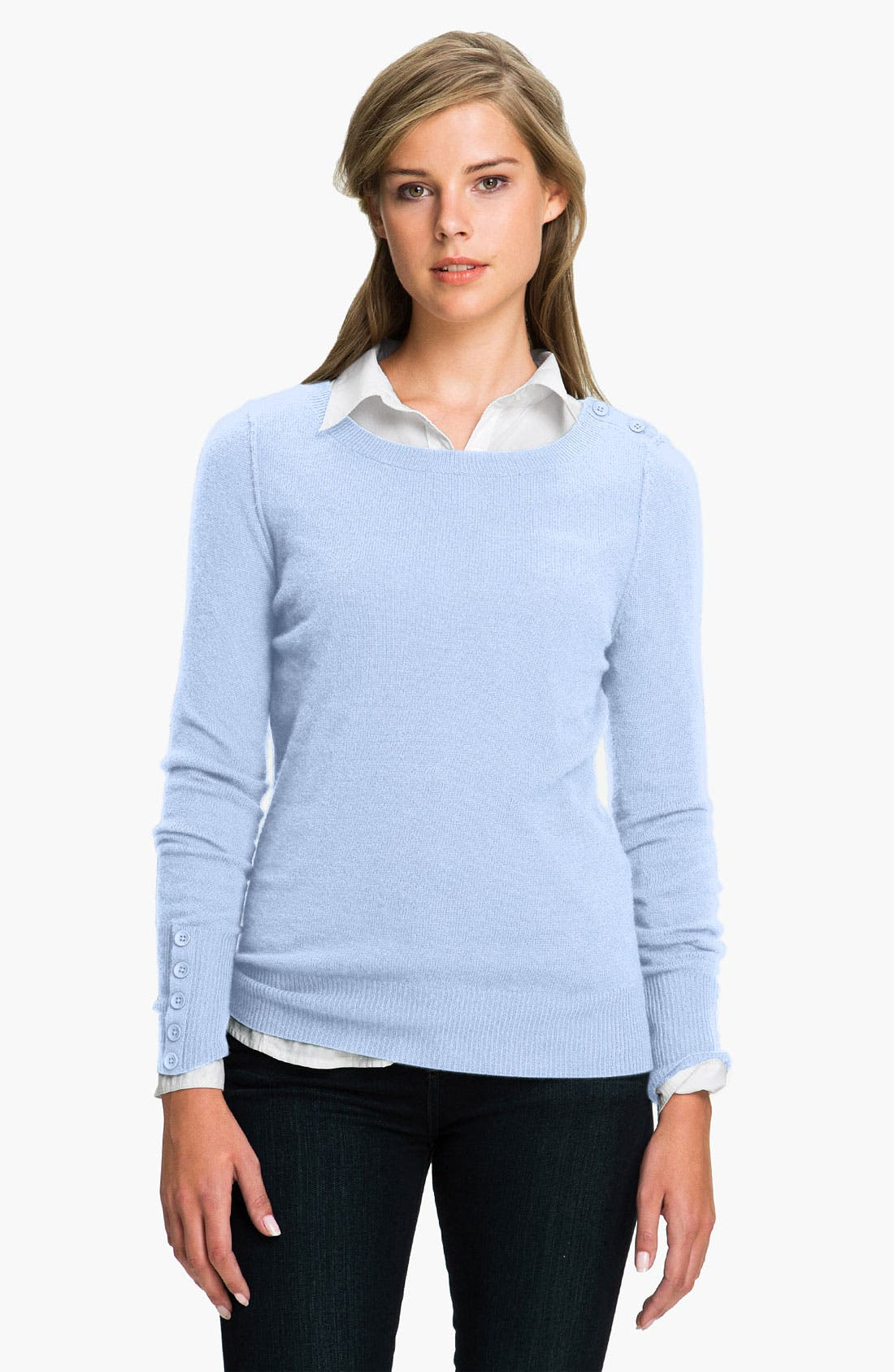 Alternate Image 1 Selected - Caslon® Boatneck Cashmere Sweater