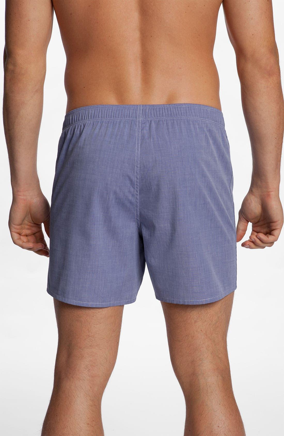Alternate Image 2  - Nordstrom Trim Fit Cotton Boxers