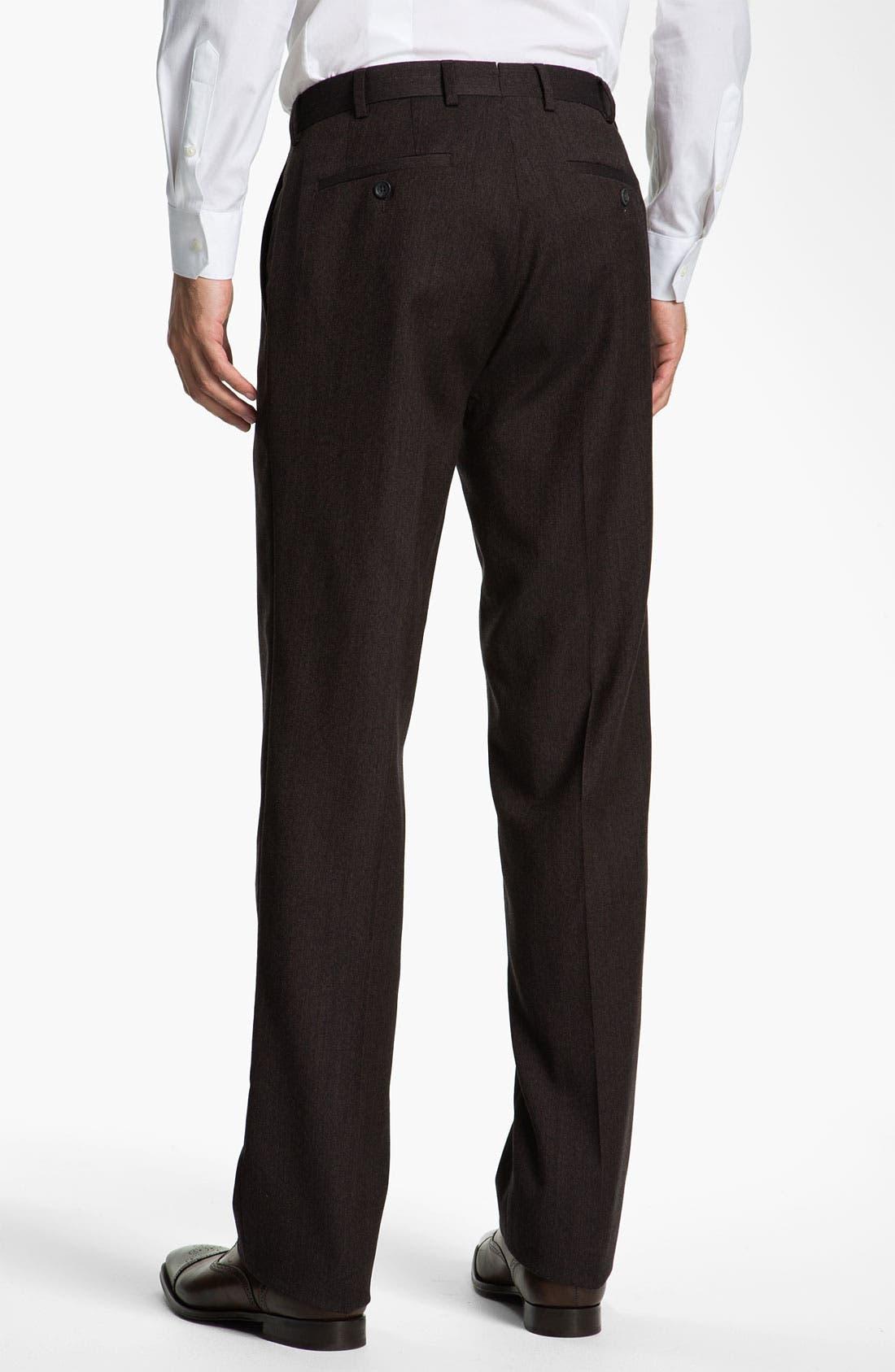 Alternate Image 2  - Peter Millar 'Hi Low' Flat Front Wool Trousers