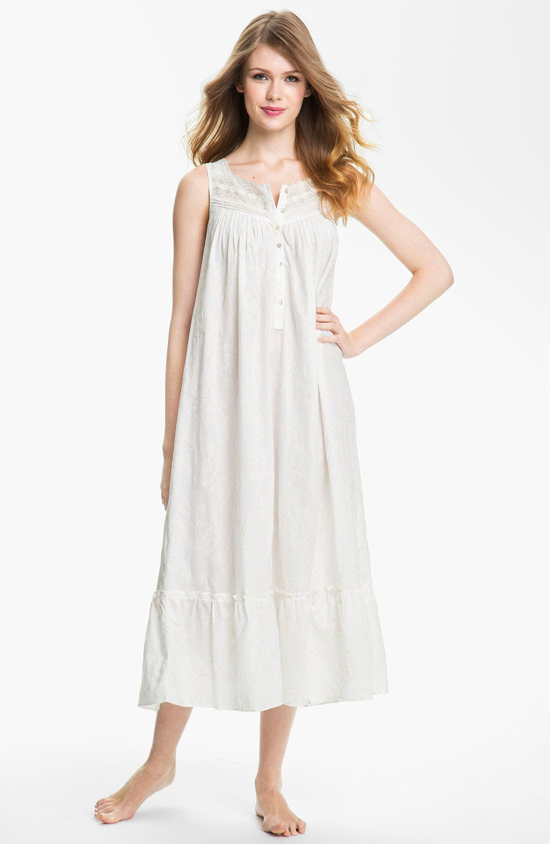 Alternate Image 1 Selected - Eileen West 'Quartz Crystal' Sleeveless Nightgown