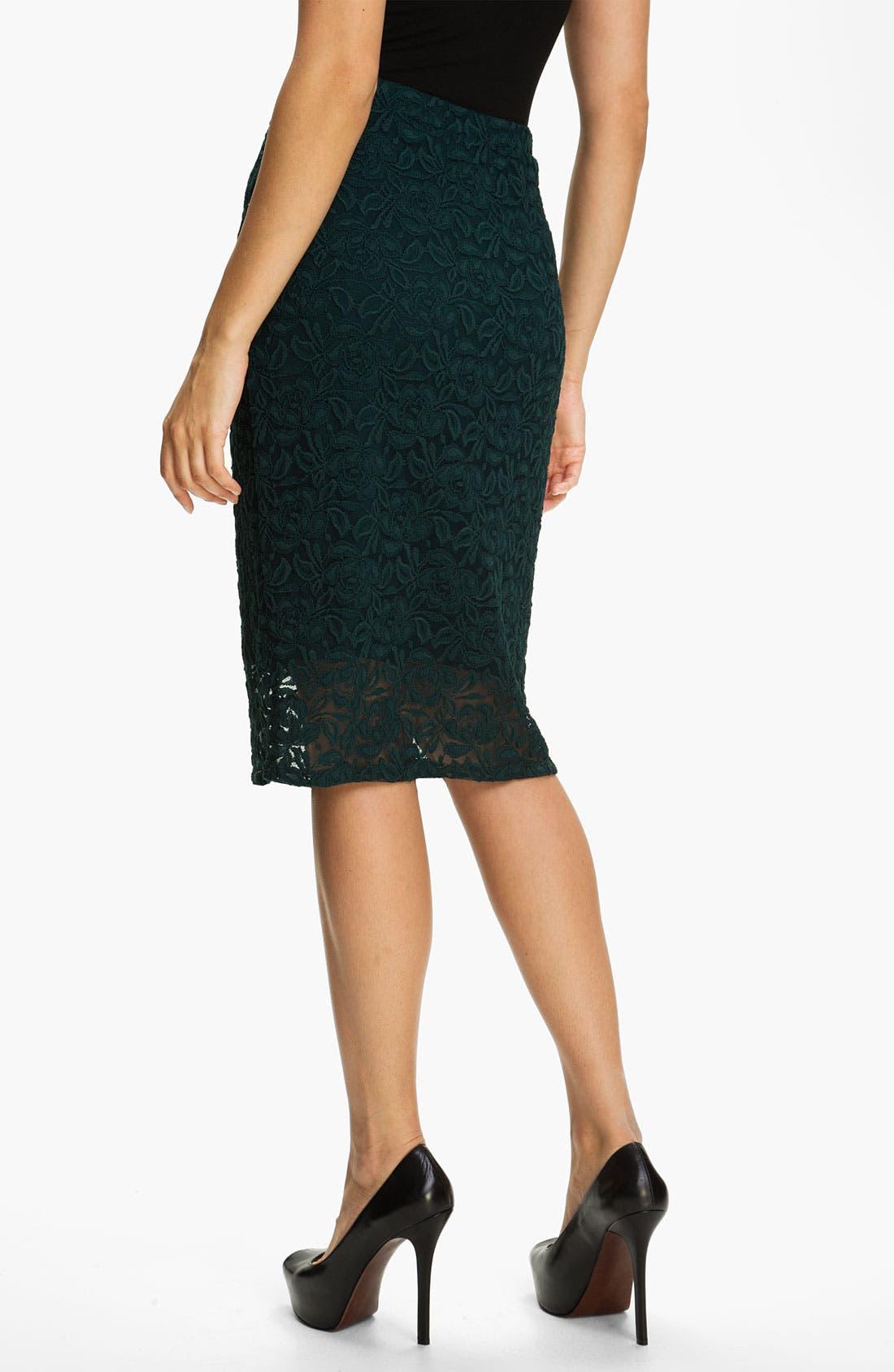 Alternate Image 2  - Bobeau Lace Midi Skirt
