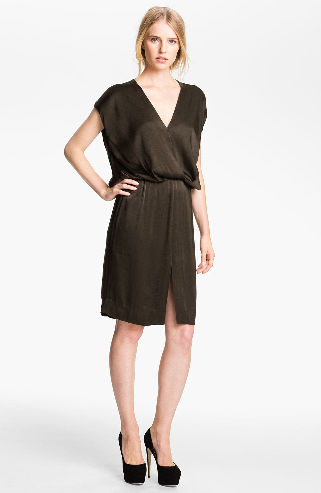 Main Image - L'AGENCE Drop Sleeve Blouson Dress