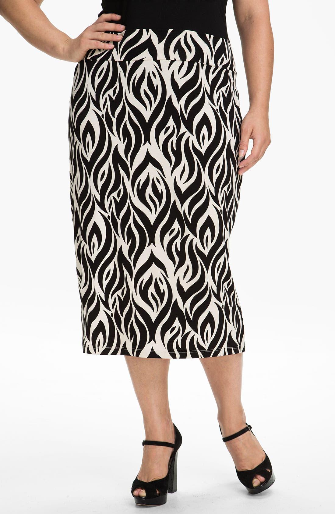 Alternate Image 1 Selected - Rachel Pally 'Bonnie' Print Knit Skirt (Plus)