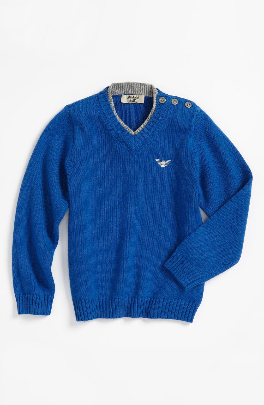 Alternate Image 1 Selected - Armani Junior Sweater (Infant)