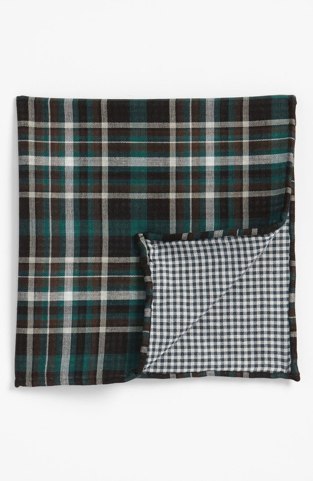 Alternate Image 2  - The Tie Bar Plaid Cotton Flannel Pocket Square