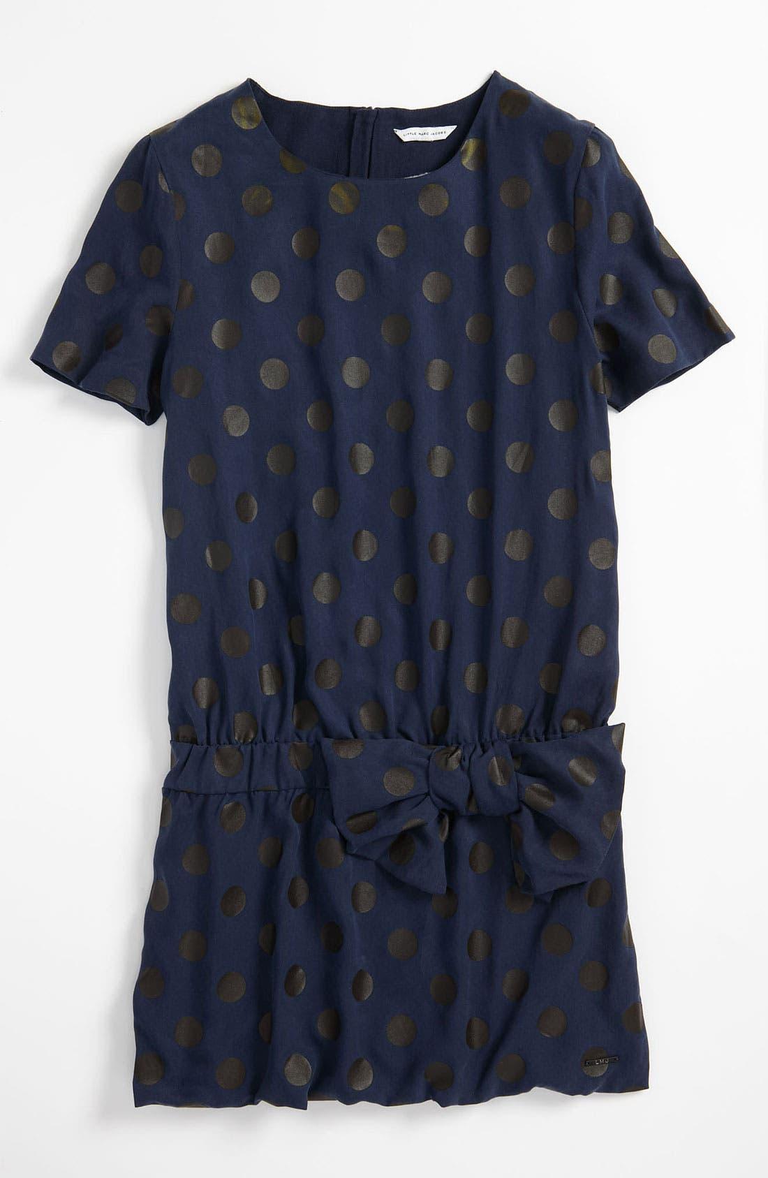 Alternate Image 1 Selected - LITTLE MARC JACOBS Polka Dot Dress (Little Girls & Big Girls)