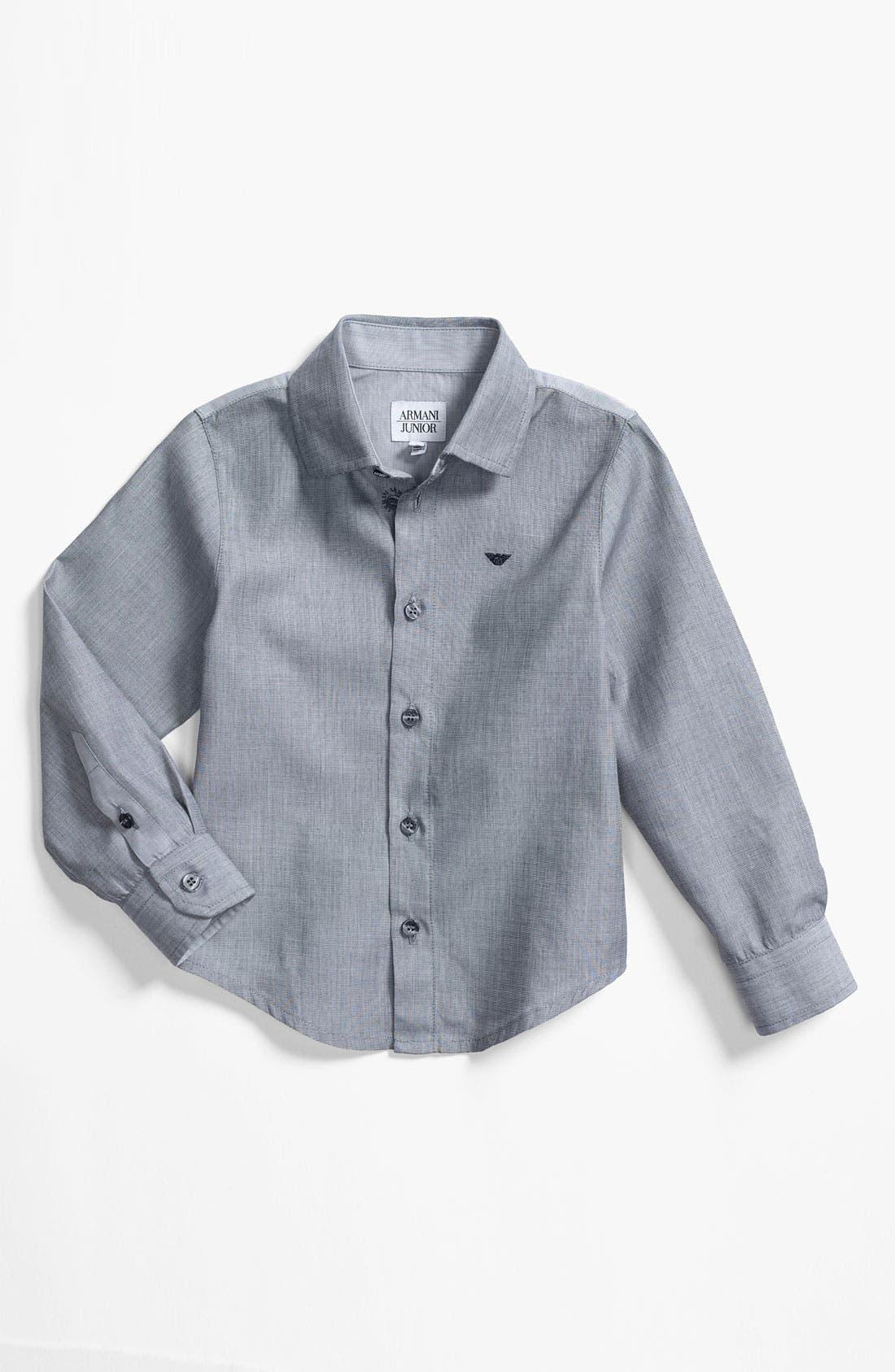 Main Image - Armani Junior Dress Shirt (Little Boys)