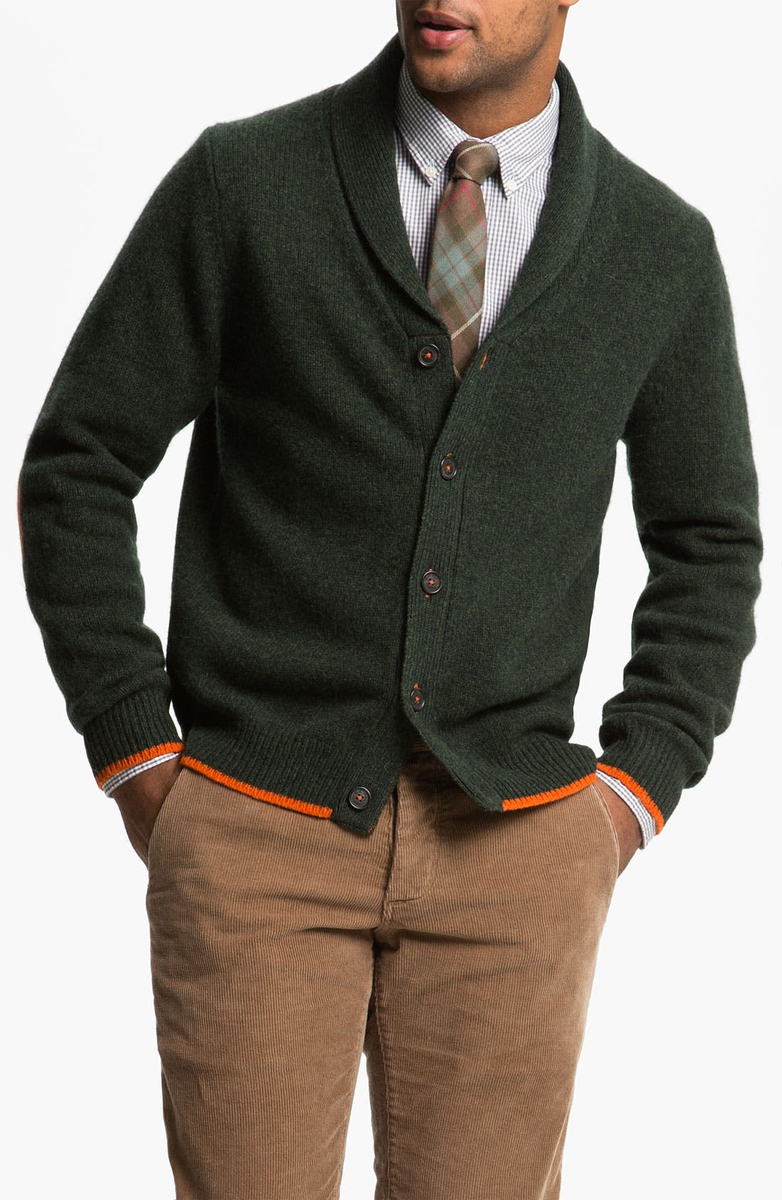 Alternate Image 1 Selected - Brooks Brothers Shawl Collar Wool Cardigan