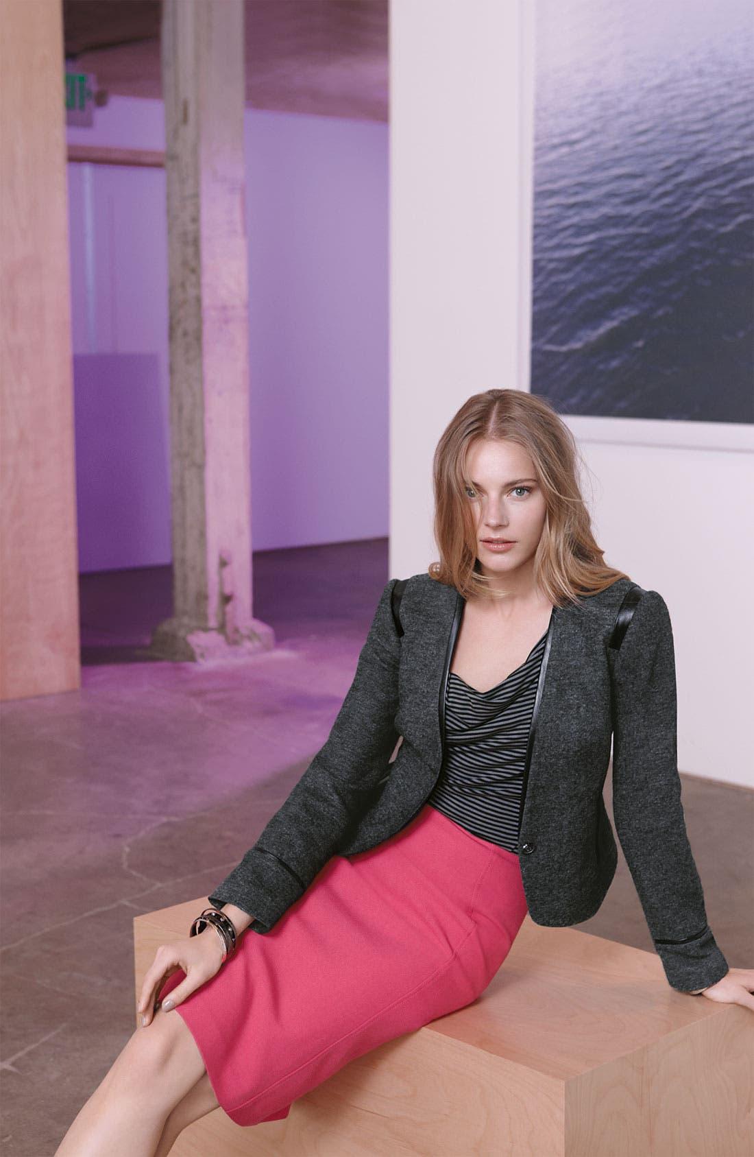 Alternate Image 4  - Halogen® Faux Leather Trim Jacket
