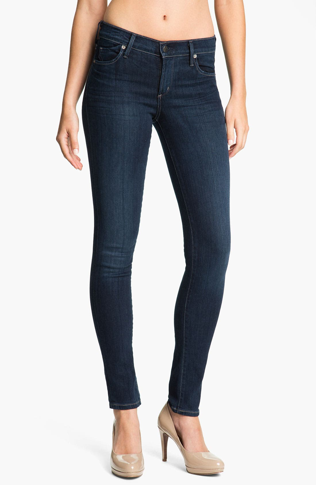 Alternate Image 1  - Citizens of Humanity Skinny Stretch Denim Leggings (Royal)