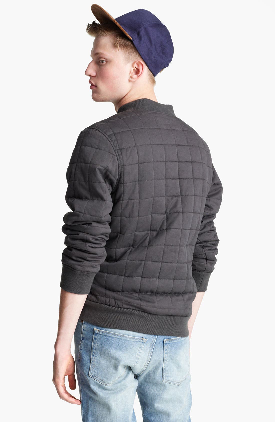Alternate Image 2  - Topman Quilted Bomber Jacket