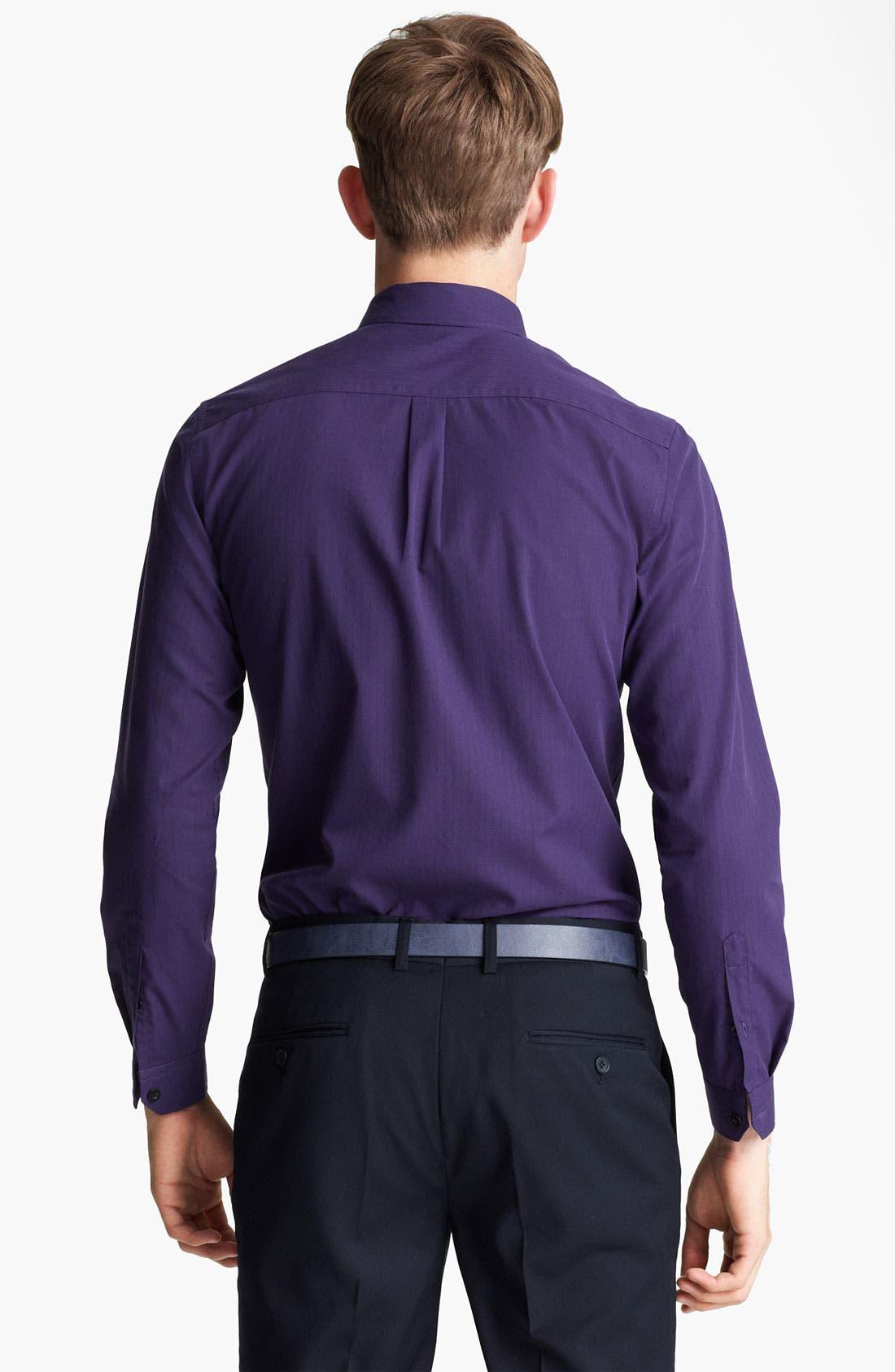 Alternate Image 2  - Topman 'Smart' Extra Trim Dress Shirt
