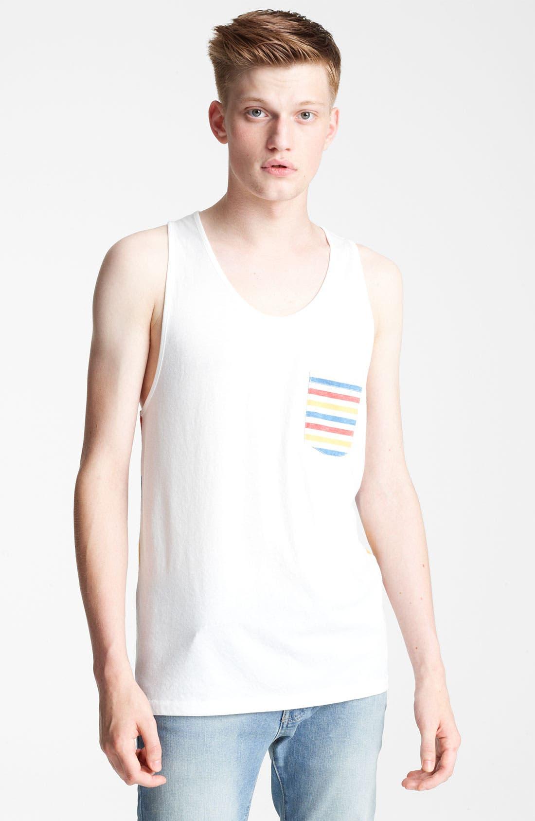 Alternate Image 1 Selected - Topman 'Olly' Stripe Tank Top
