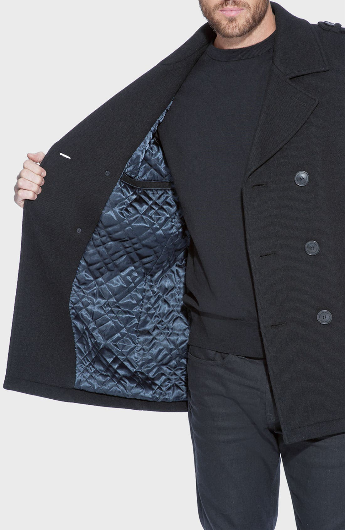 Alternate Image 3  - Marc New York by Andrew Marc 'Nick' Wool Blend Peacoat