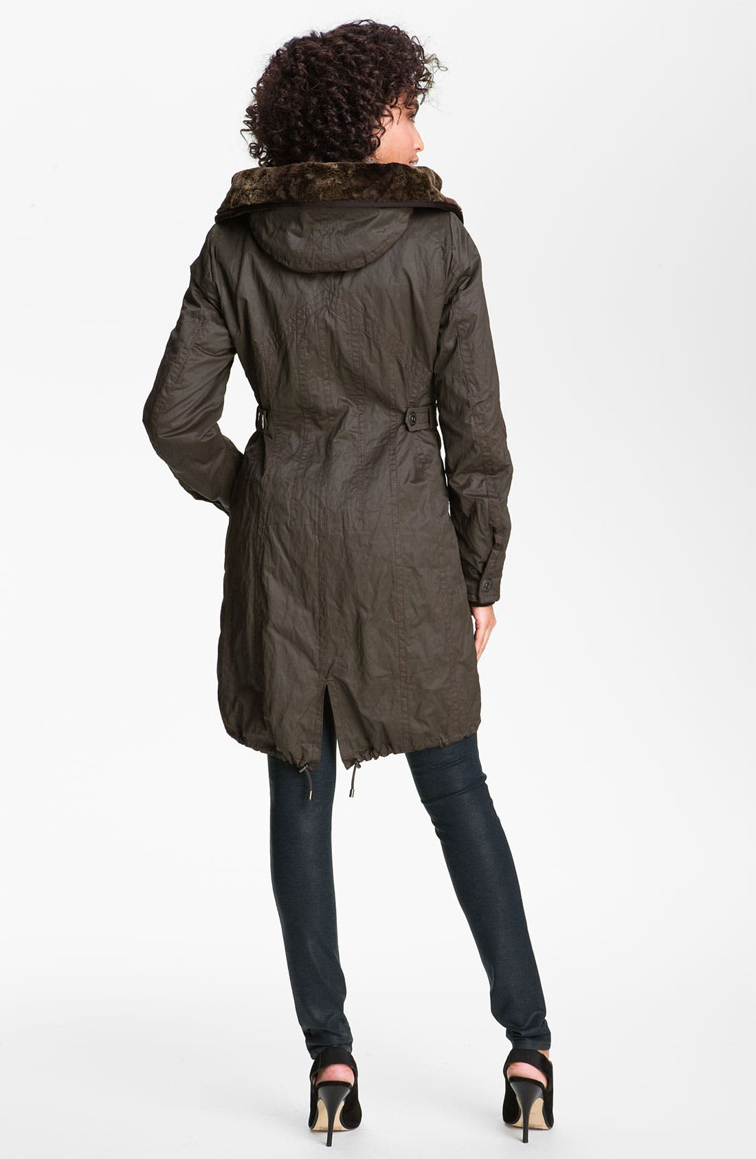 Alternate Image 2  - Creenstone Hooded Parka with Faux Fur Liner