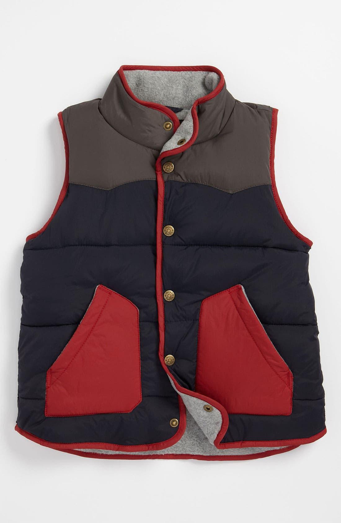 Alternate Image 1 Selected - Mini Boden Colorblock Vest (Toddler)