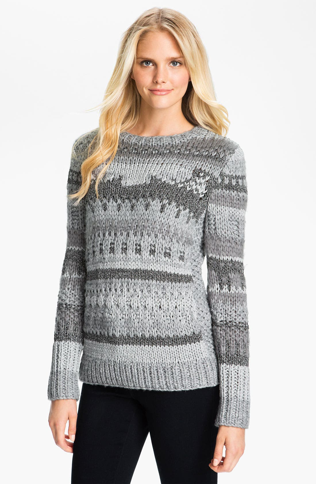 Alternate Image 1 Selected - MICHAEL Michael Kors Textured Intarsia Sweater
