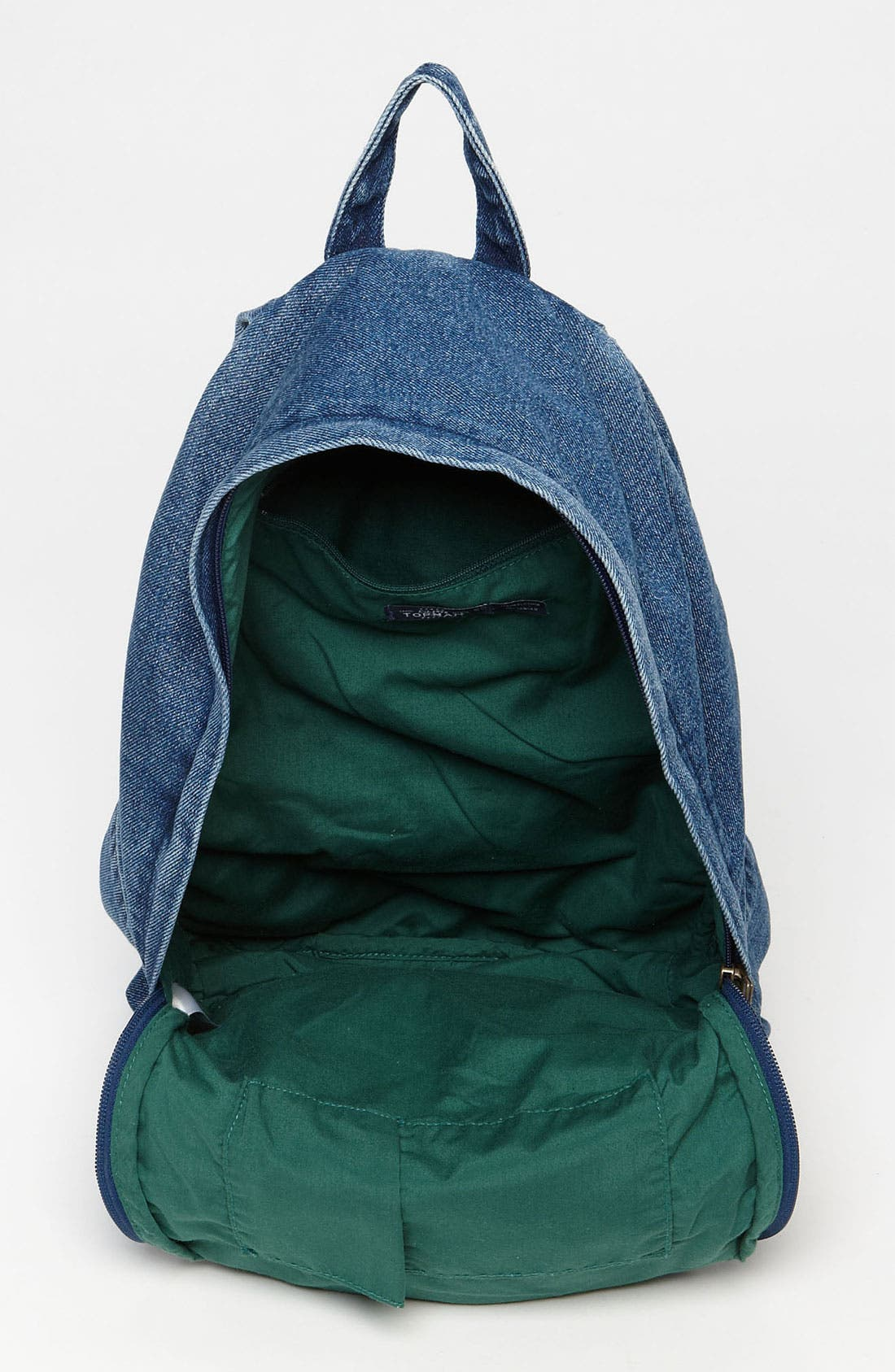 Alternate Image 4  - Topman Denim Backpack