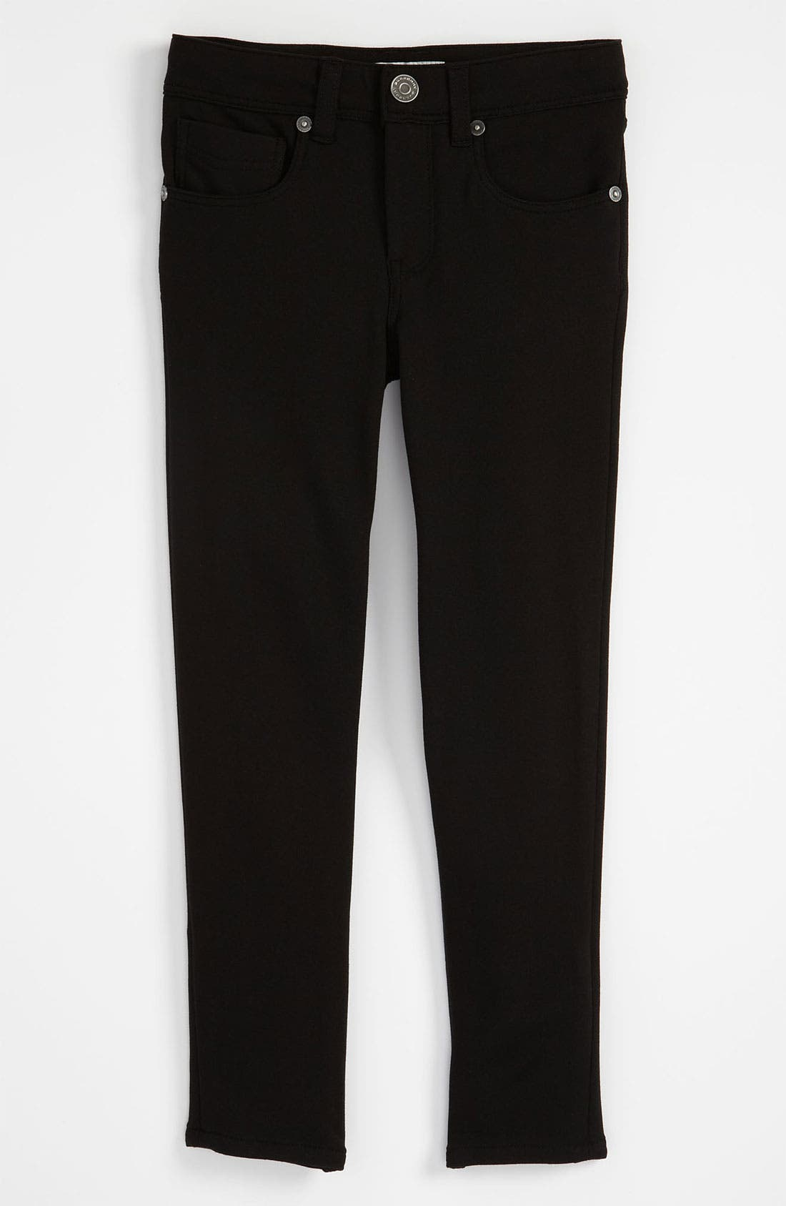 Alternate Image 2  - Burberry Skinny Ponte Knit Pants (Little Girls)