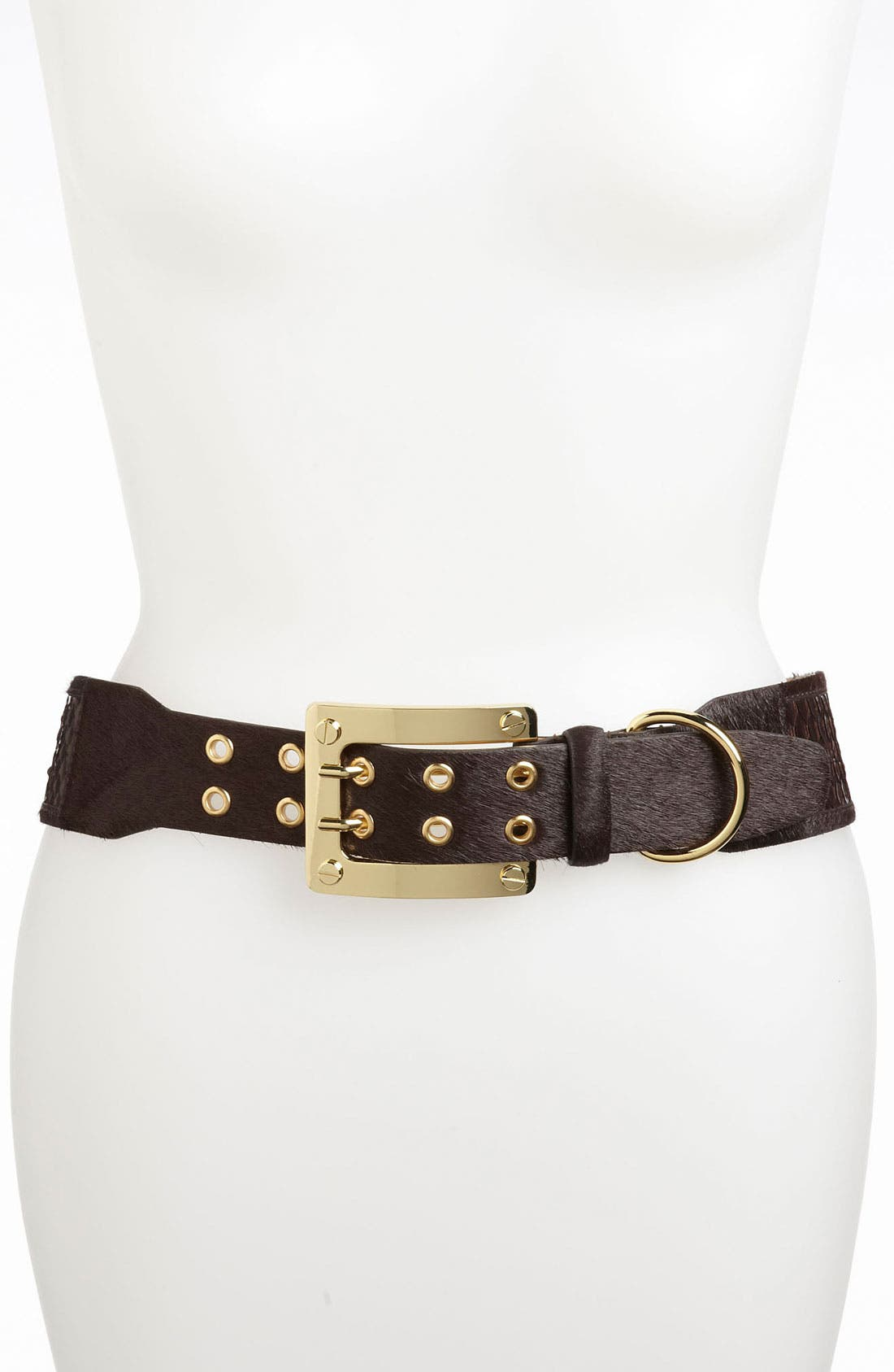 Alternate Image 1 Selected - Rachel Zoe Calf Hair Belt