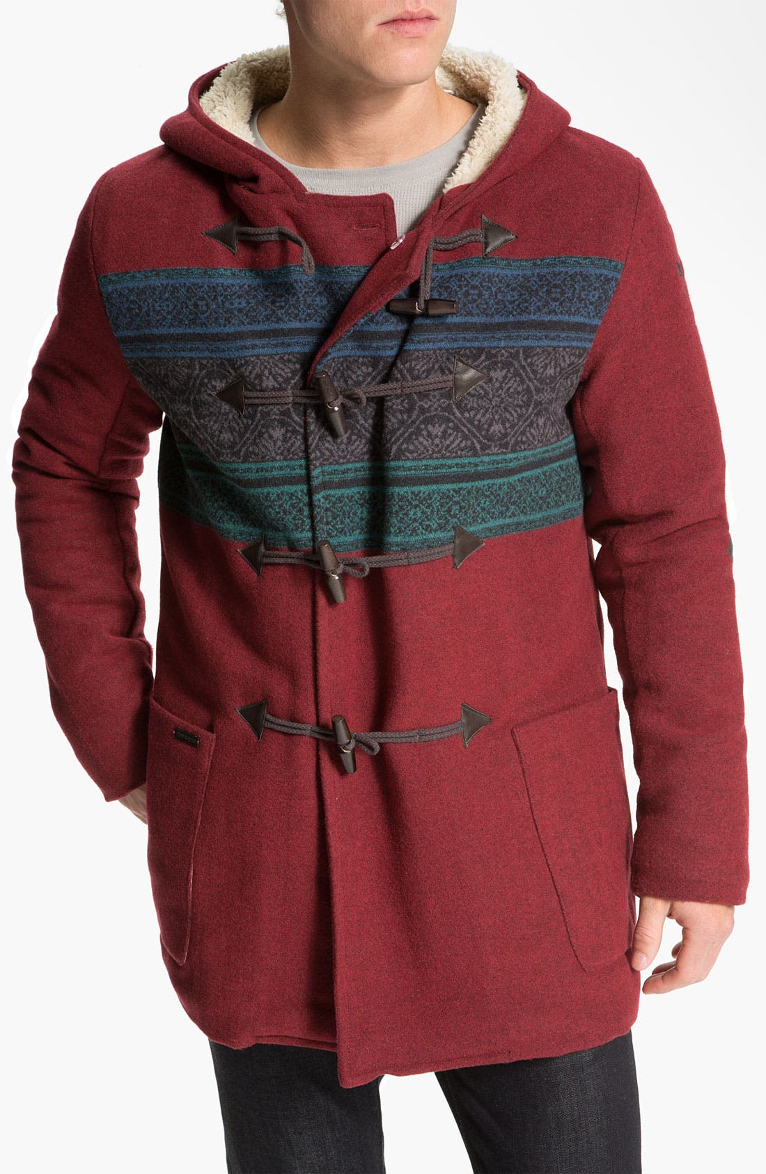 Alternate Image 1 Selected - Insight 'Downtown' Hooded Wool Blend Jacket