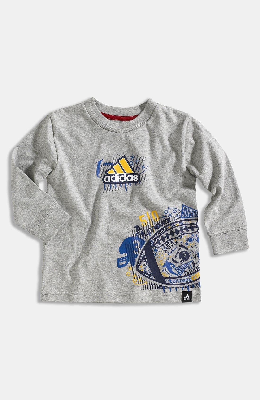 Alternate Image 1 Selected - adidas 'Playbook Wrap' T-Shirt (Infant)
