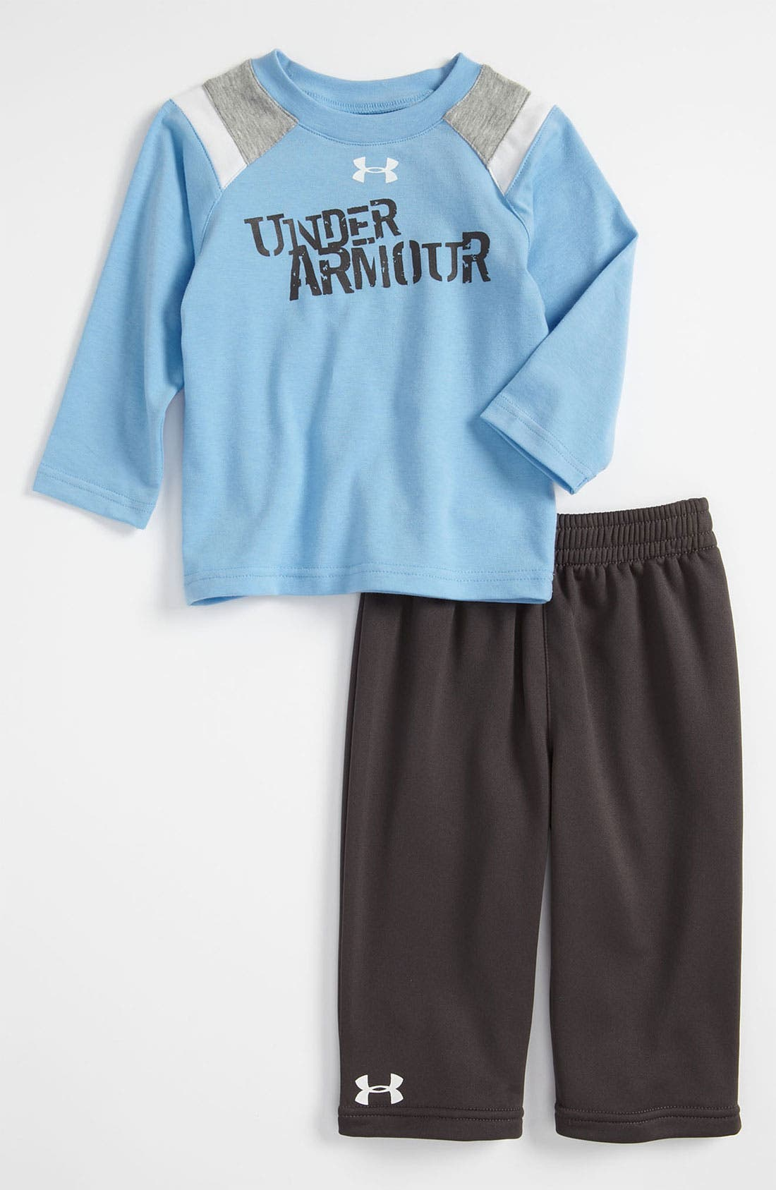 Alternate Image 1 Selected - Under Armour T-Shirt & Pants (Infant)