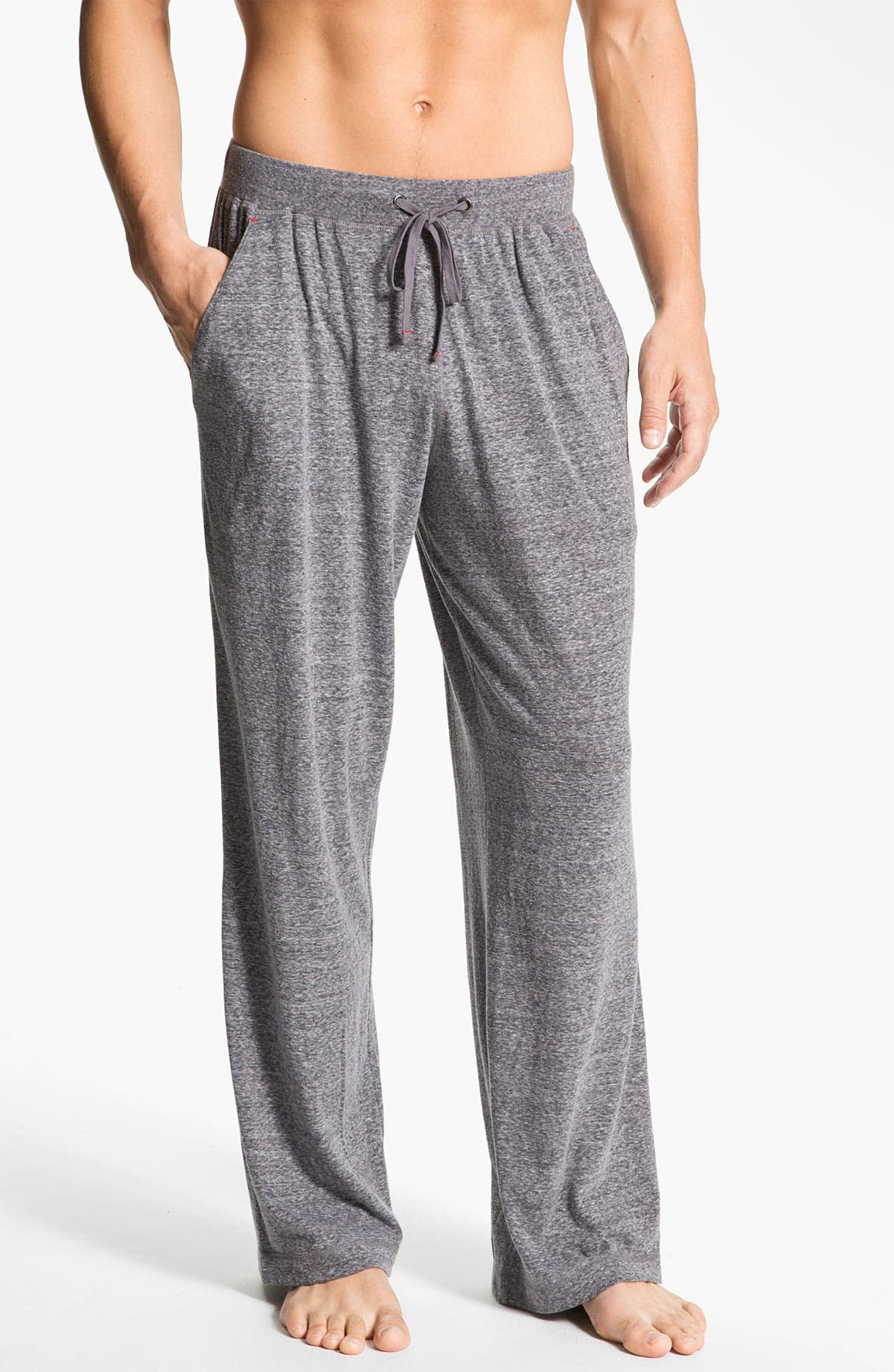 Alternate Image 1 Selected - Daniel Buchler Lightweight Heathered Cotton Blend Lounge Pants