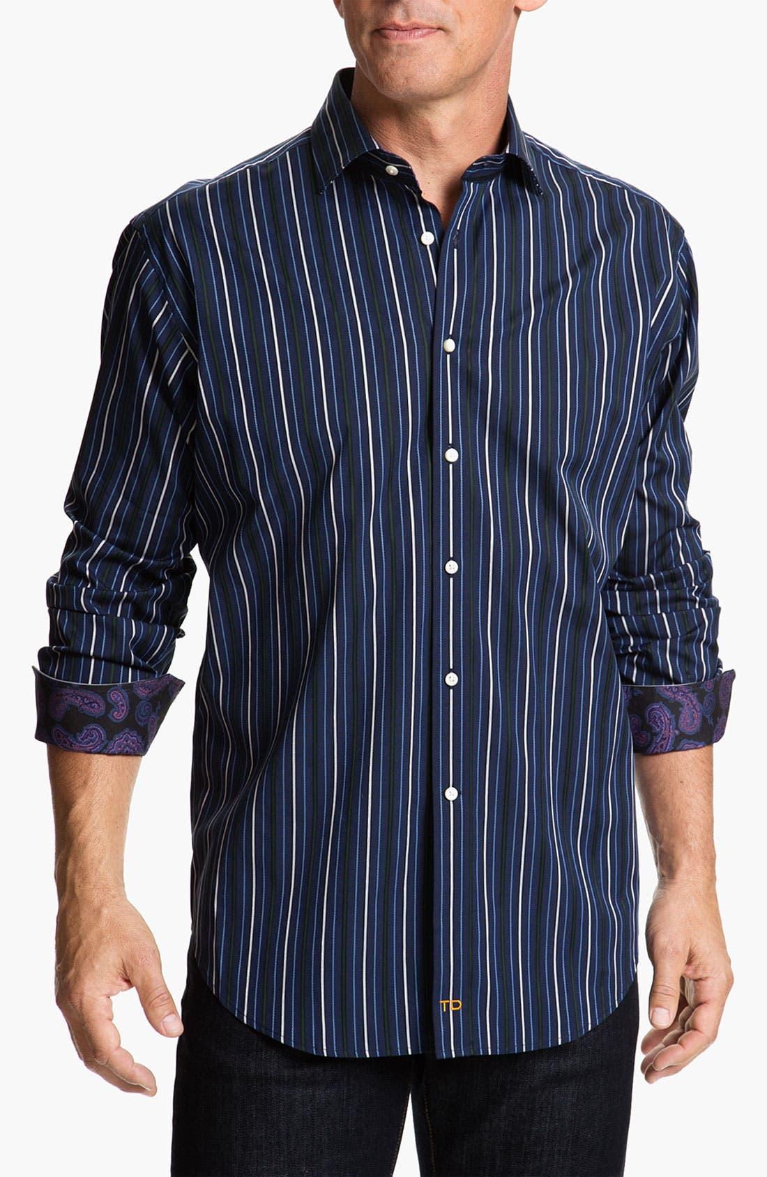 Alternate Image 1 Selected - Thomas Dean Regular Fit Sport Shirt