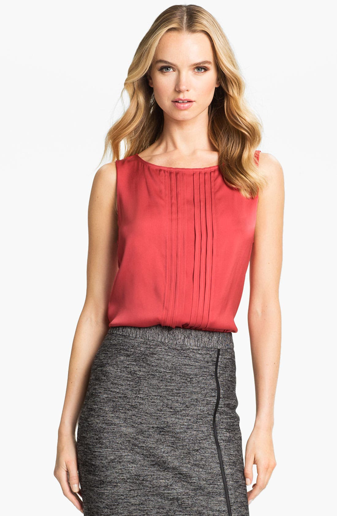 Alternate Image 1 Selected - Classiques Entier® Pintuck Stretch Silk Blouse