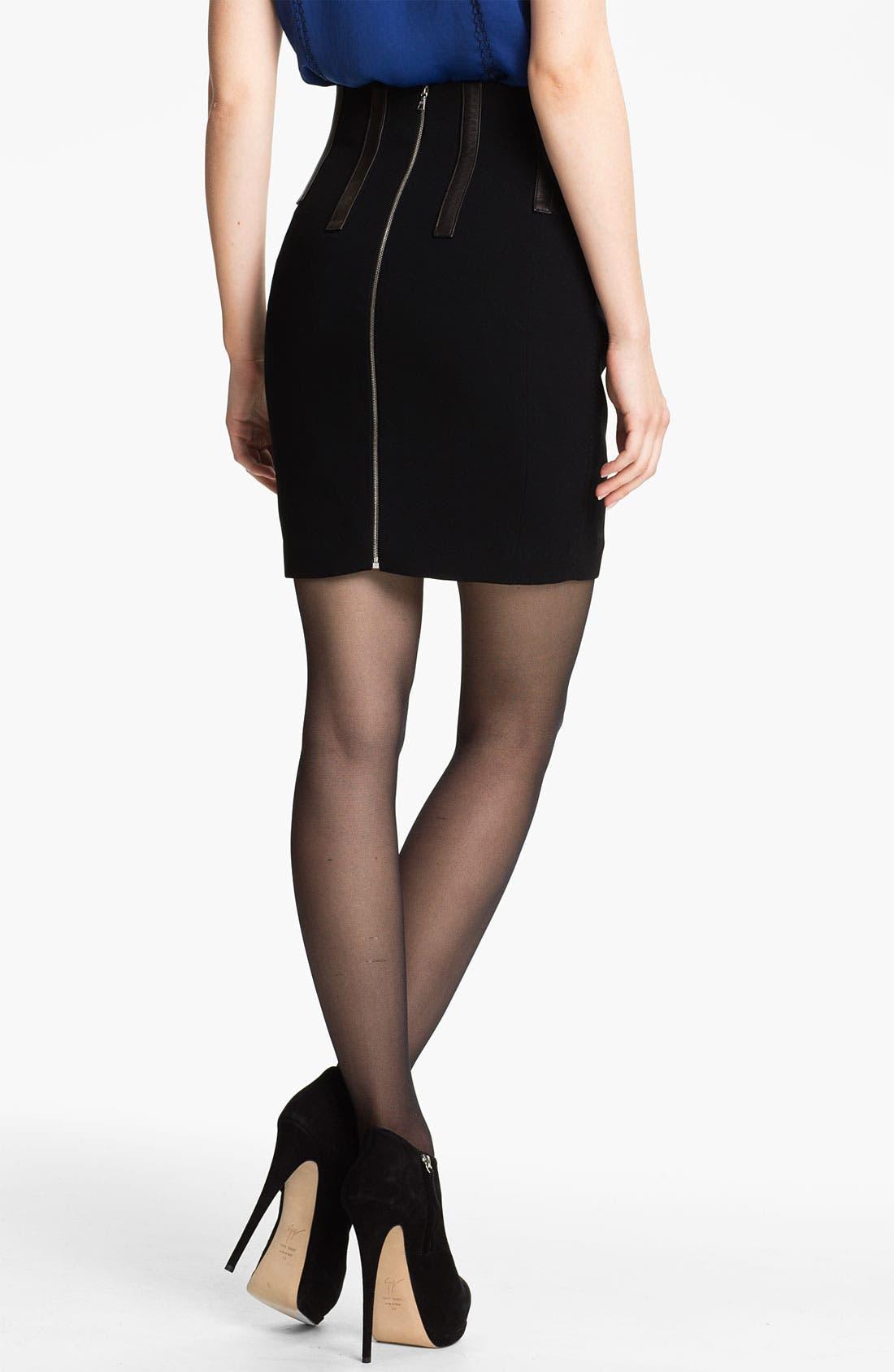Alternate Image 2  - rag & bone 'Imogen' Leather Trim Skirt