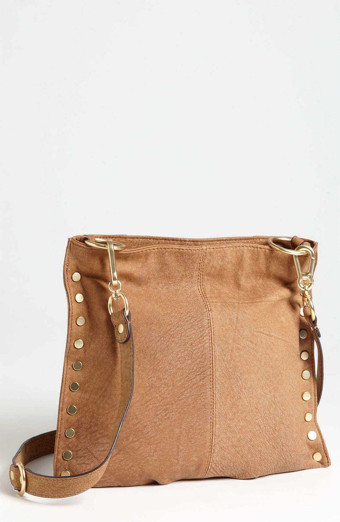 Alternate Image 1 Selected - Sloane & Alex 'Angie' Nubuck Leather Crossbody Bag