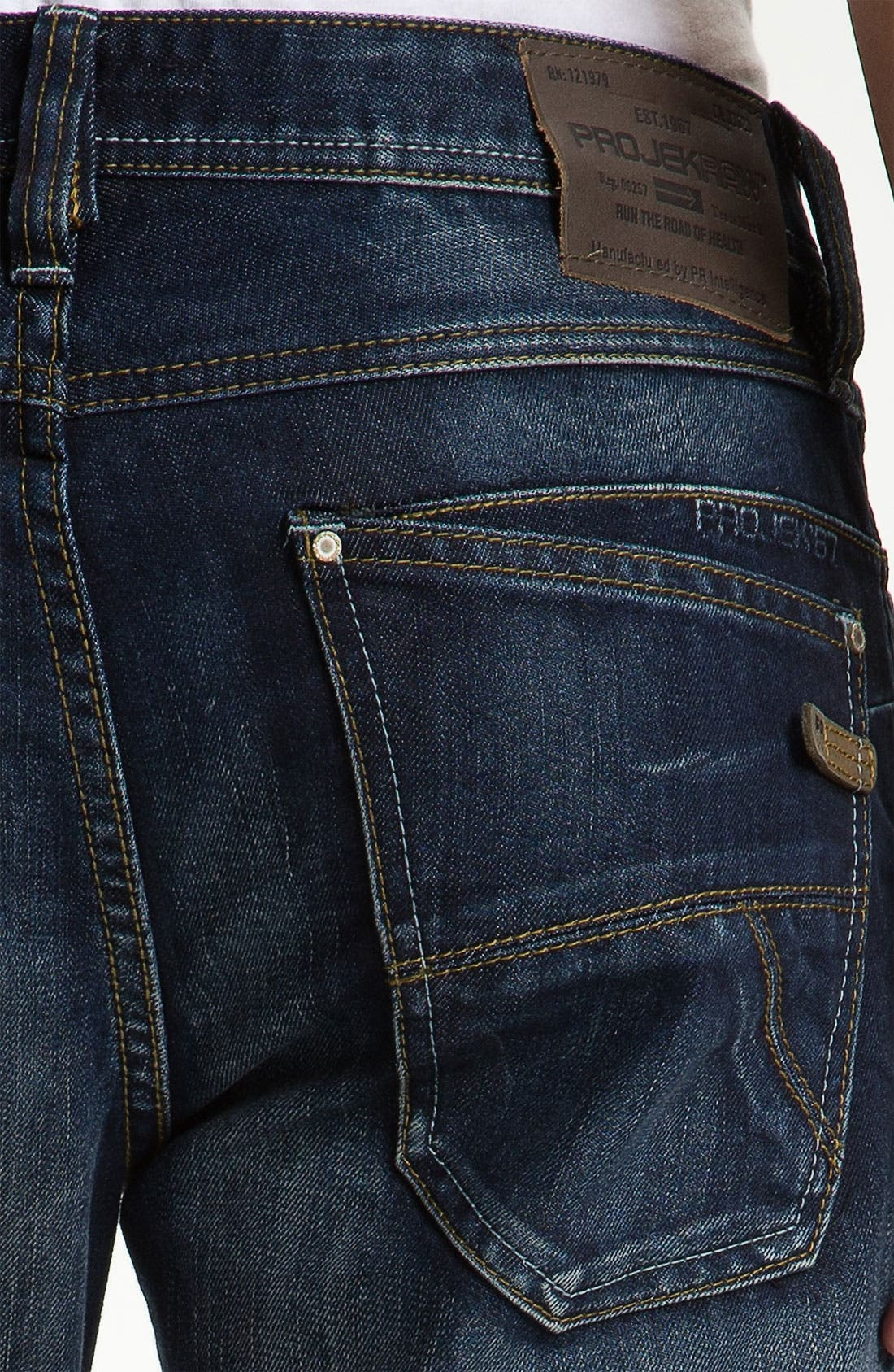 Alternate Image 4  - Projek Raw Relaxed Straight Leg Jeans (Blue)
