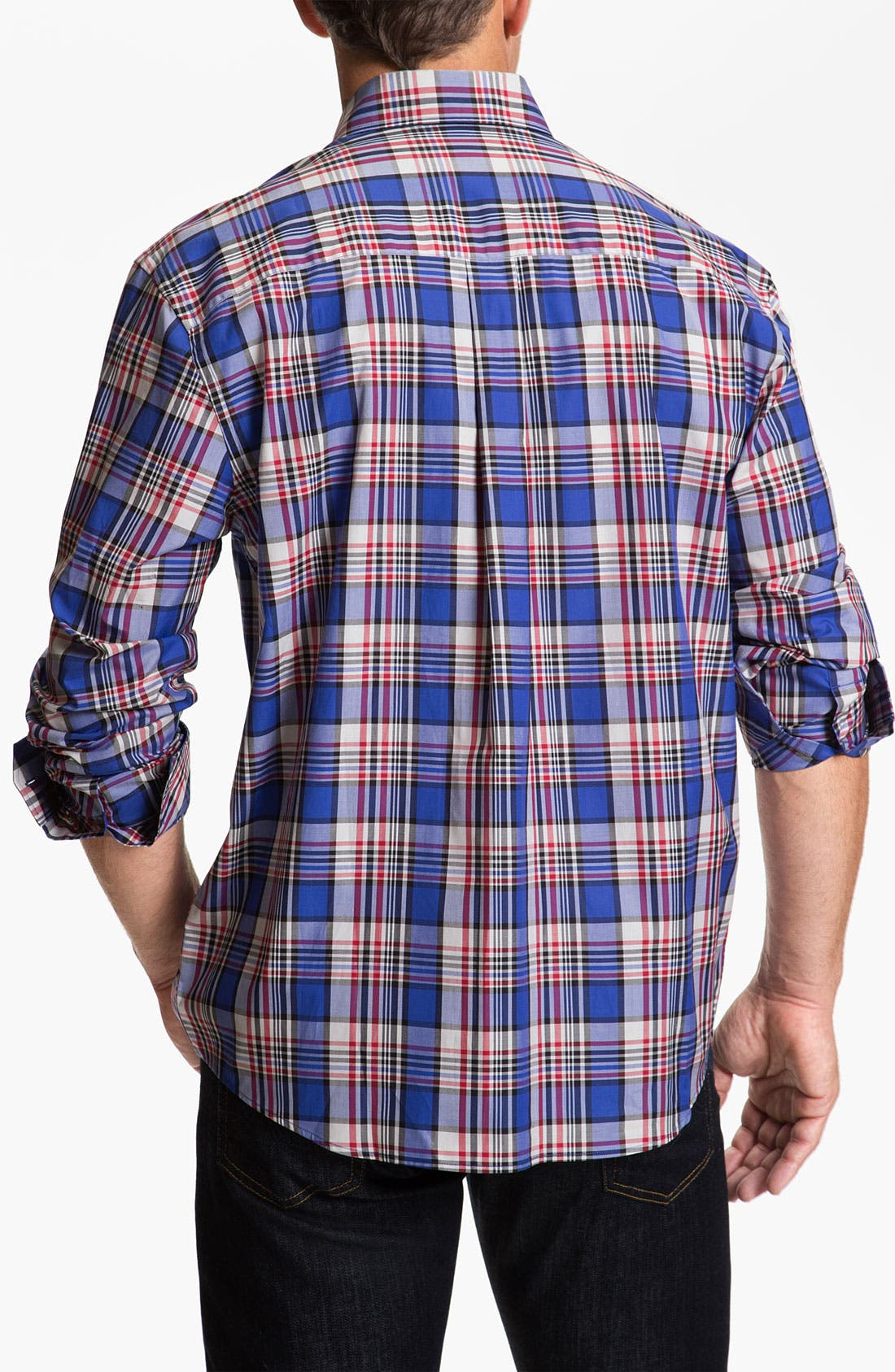 Alternate Image 2  - Cutter & Buck 'Whistler' Plaid Woven Shirt
