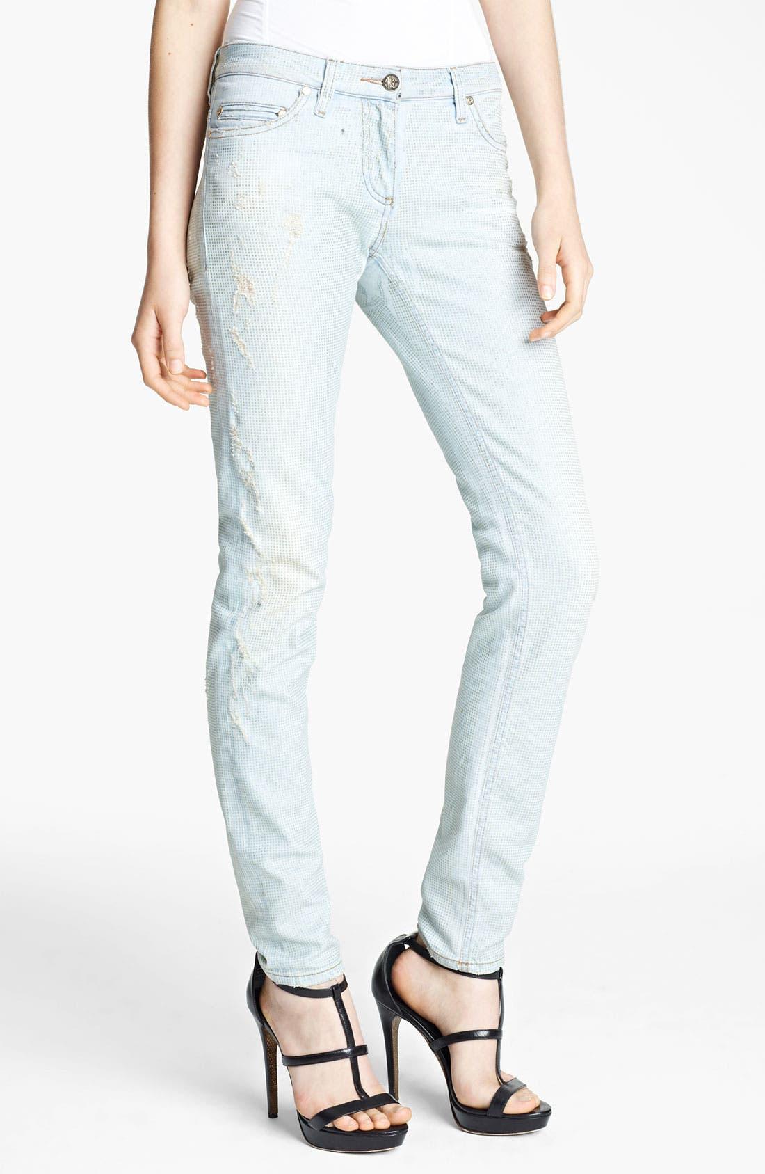 Main Image - Roberto Cavalli Crystal Encrusted Skinny Jeans