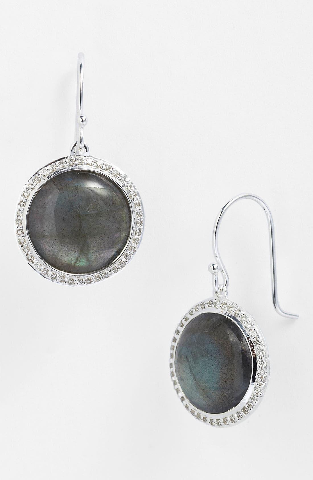 Alternate Image 1 Selected - Ippolita 'Scultura' Mini Circle Stone & Diamond Earrings