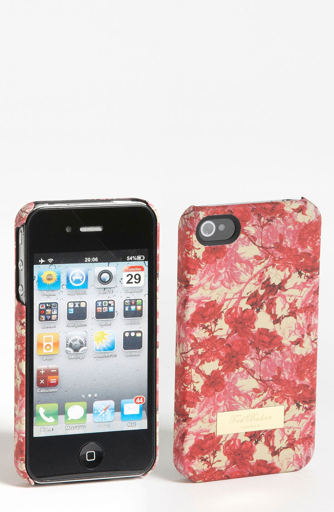 Alternate Image 1 Selected - Ted Baker London 'Floral Etchings' iPhone 4 & 4S Case