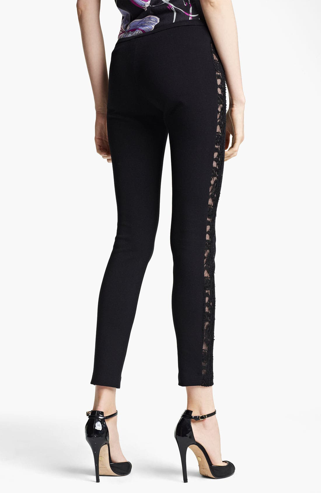 Alternate Image 2  - Emilio Pucci Lace Stripe Pants