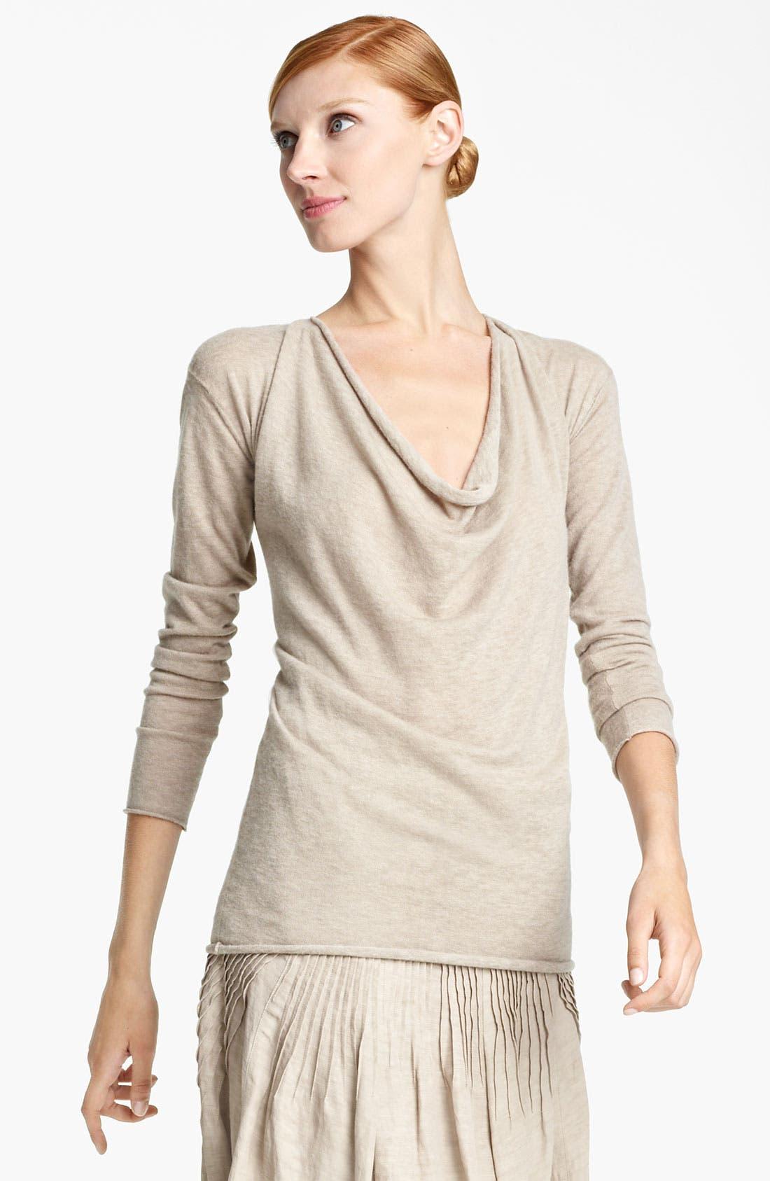 Main Image - Donna Karan Collection Draped Cashmere Top